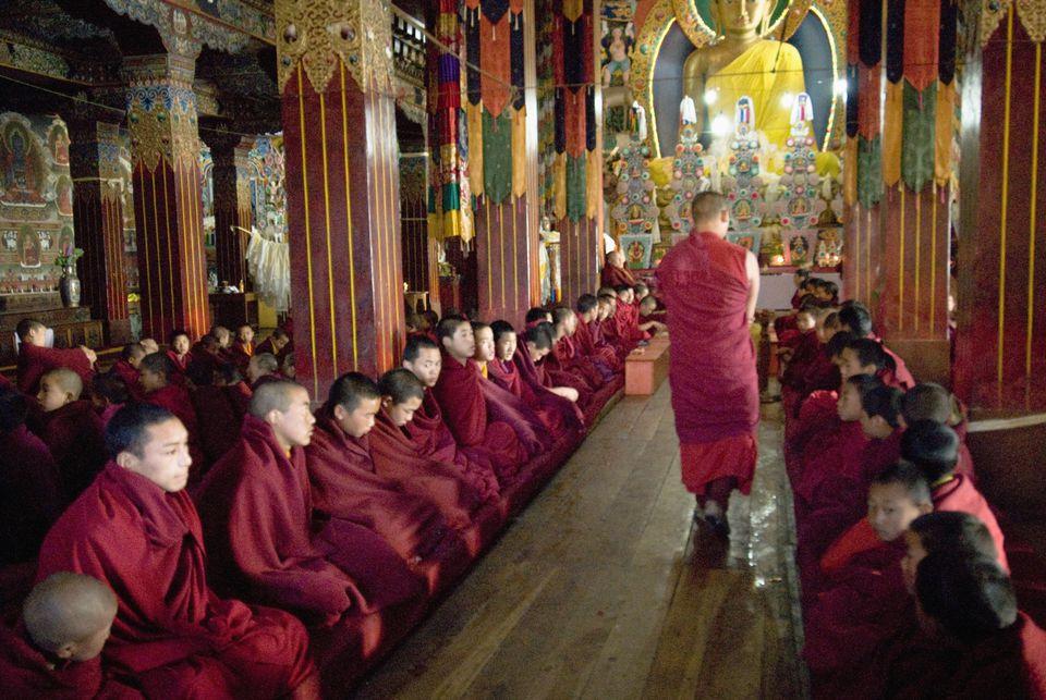 Prayer Hall at Tawang Monastery.