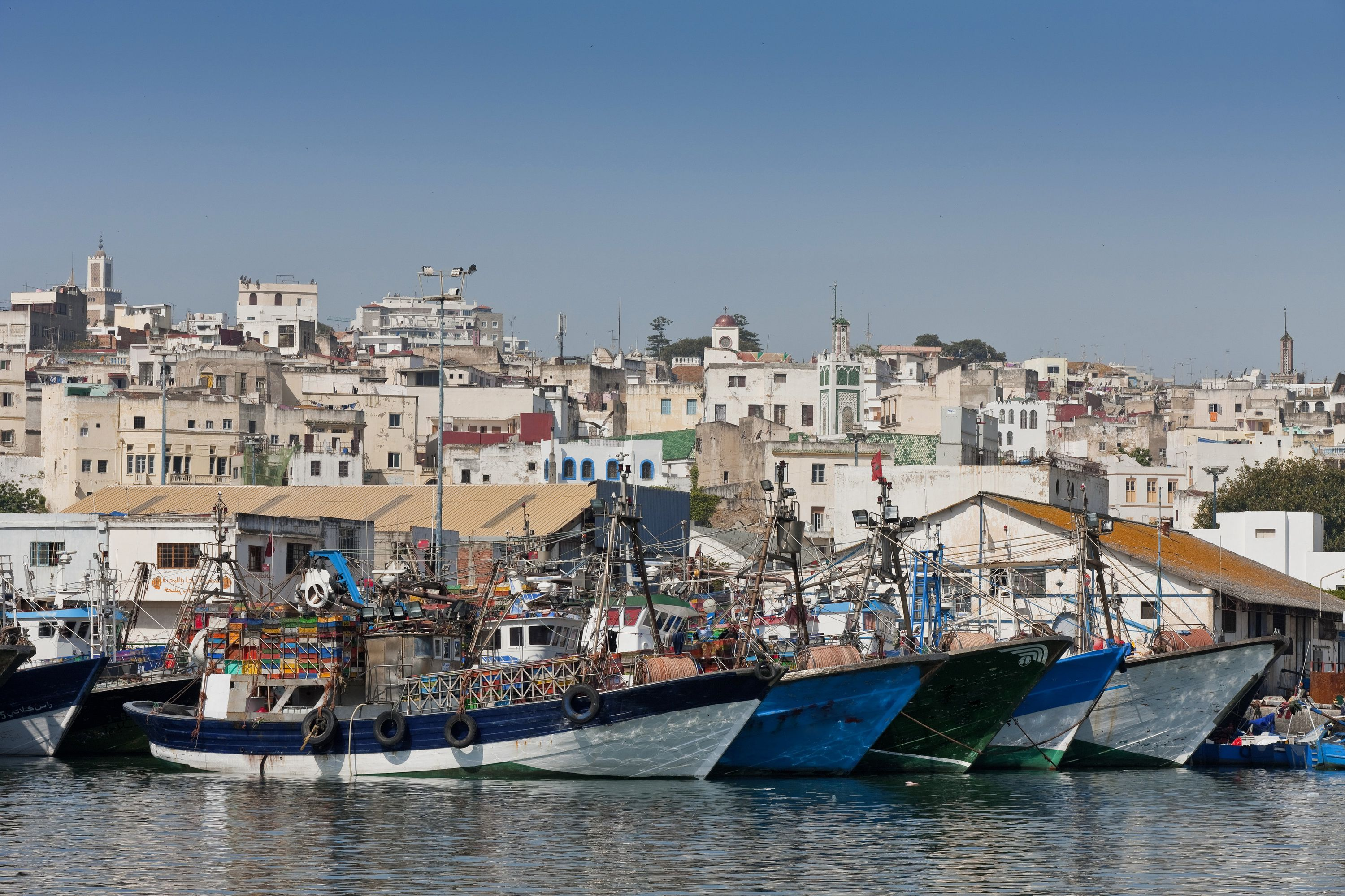 Tangier fascinating city on the edge of africa - Moroccan port on the strait of gibraltar ...
