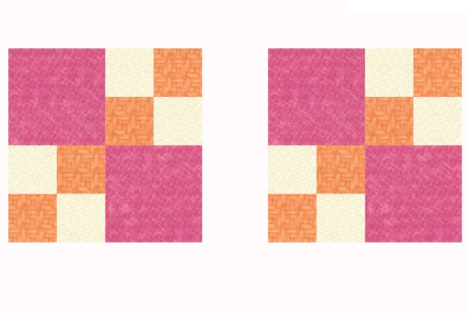 Double Four Patch Quilt Blocks