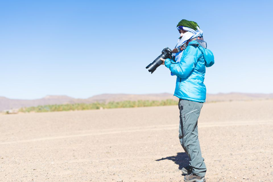Photojournalist in the desert