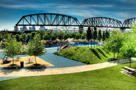 Waterfront Park in Louisville, KY
