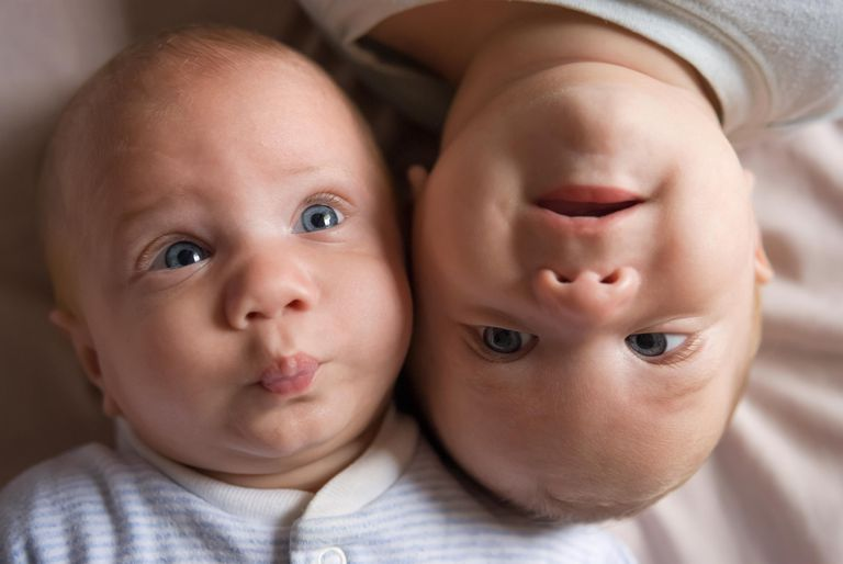 Identical twin baby boys
