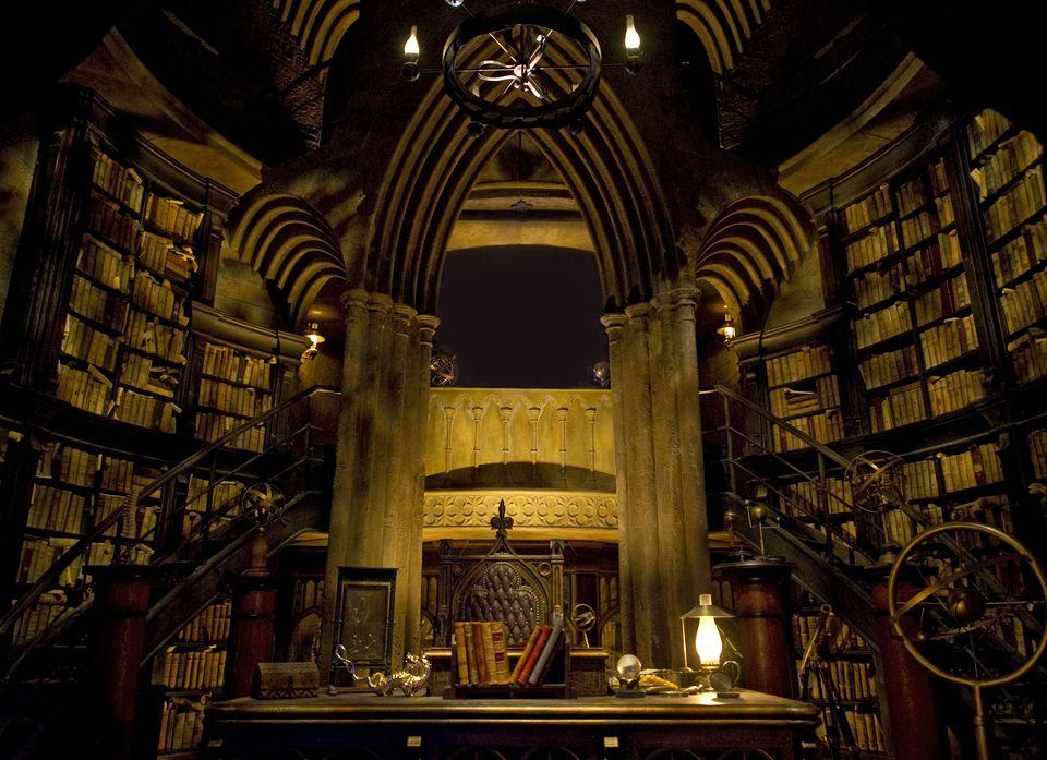 Dumbledore's office in Harry Potter ride