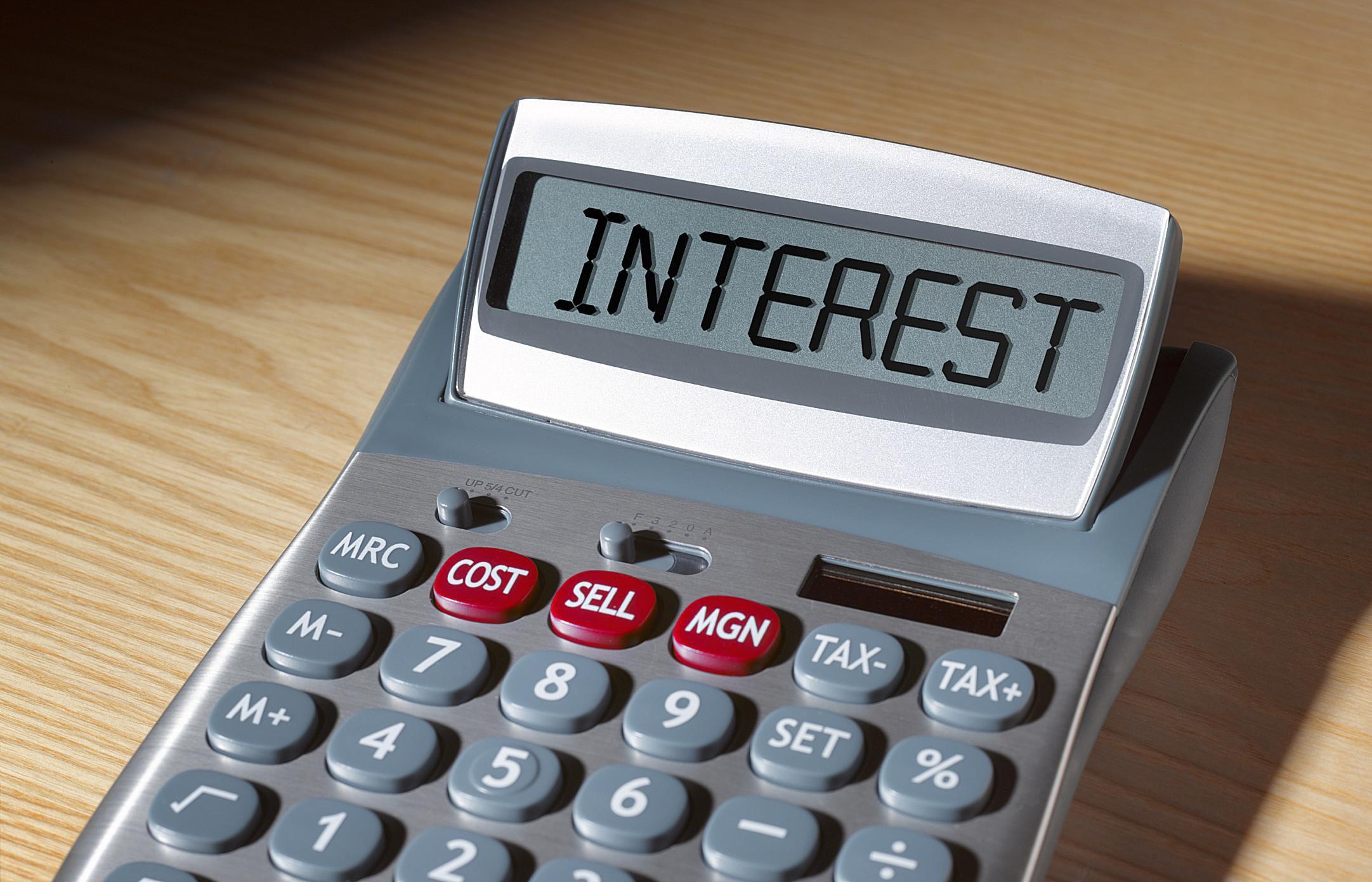 credit card interest rates calculator