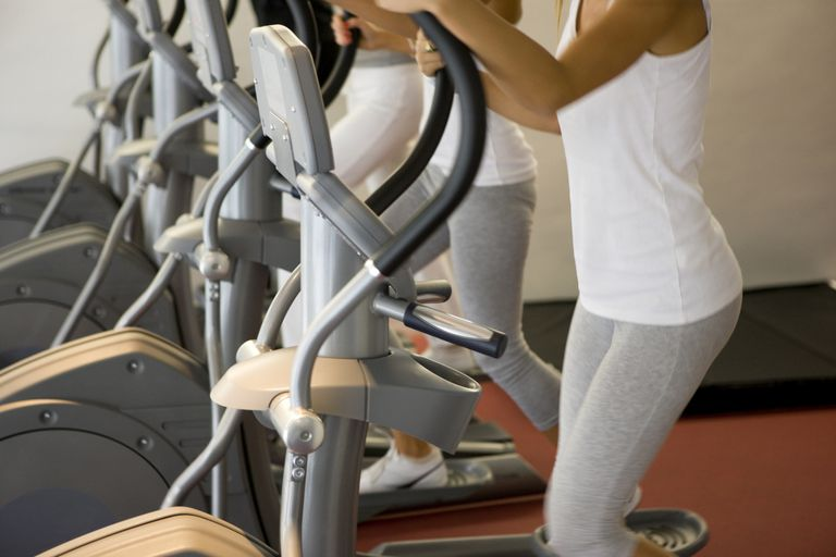 Using elliptical at the gym