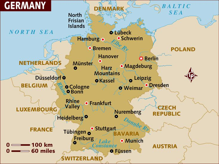A Tour Of Germany Through Its City Names - Rhine valley germany map