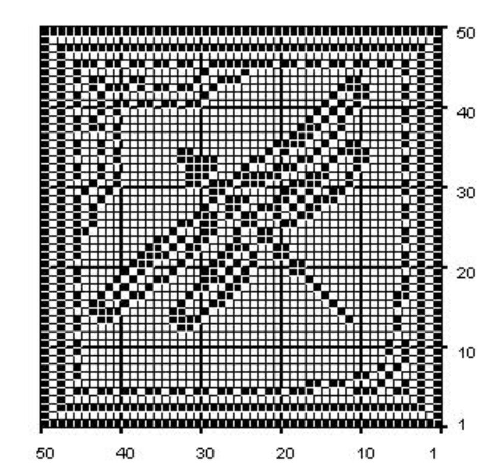Dragonfly Filet Crochet Chart