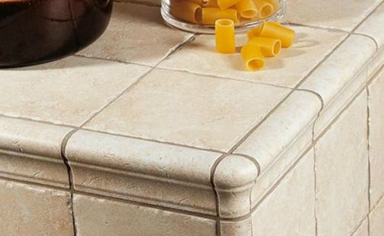 Italian Counter Tile Looks Like Stone
