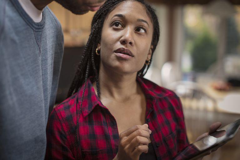 couple deciding on finances