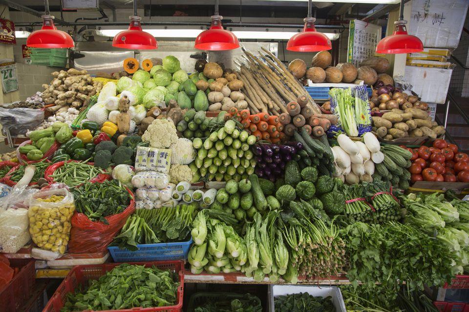 Vegetables for sale at Red Market
