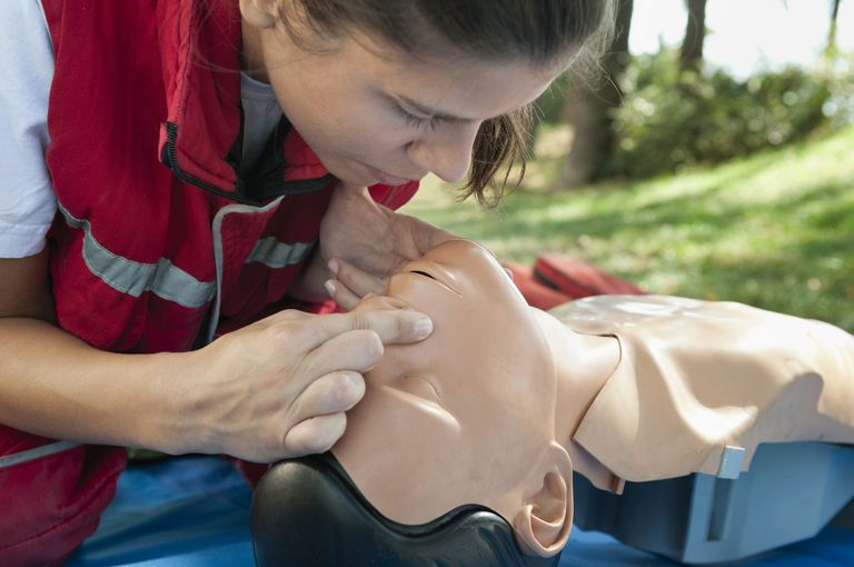 CPR training - artificial breathing