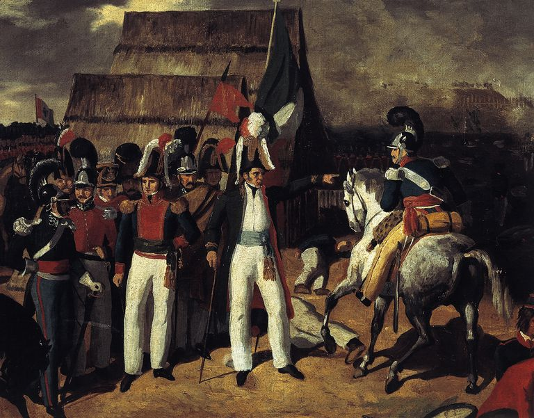 General Antonio Lopez de Santa Anna against General Isidro de Barradas'Spanish troops in 1829, Mexico