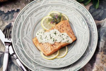 Roasted Salmon With Lemon Dill Sauce An Elegant Dish In Under 30 Minutes