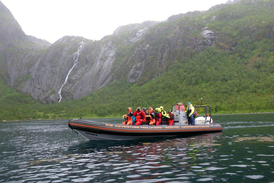 RIB Lofoten adventure in Trollfjorden