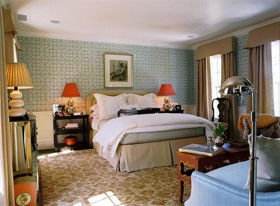 Wallpaper For A Bedroom Different ways to use wallpaper in a bedroom gorgeous bedroom with geometric wallpaper sisterspd
