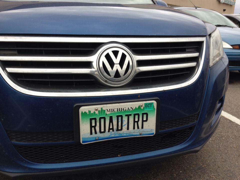 Michigan personalized plate
