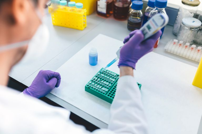 Genetic testing in medical lab