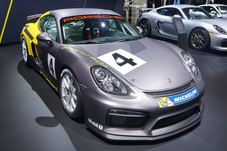 Porsche Cayman GT4 Clubsport at the 2015 Los Angeles Auto Show