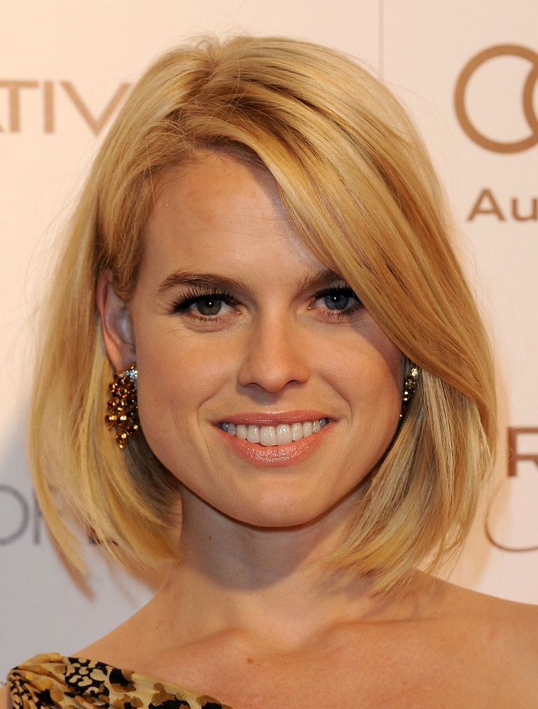 Hairstyles for round faces the most flattering cuts this chin length bob on alice eve is perfect for a round face urmus Gallery