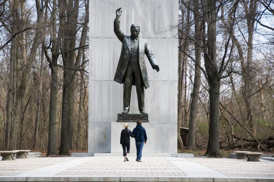 Theodore Roosevelt statue on Roosevelt Island.