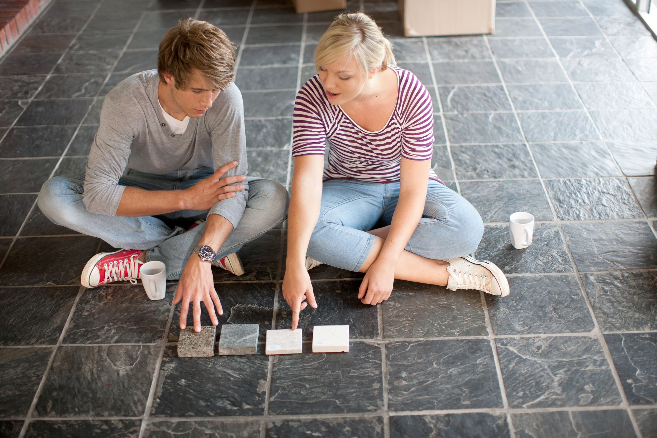 Slate flooring pros and cons dailygadgetfo Image collections