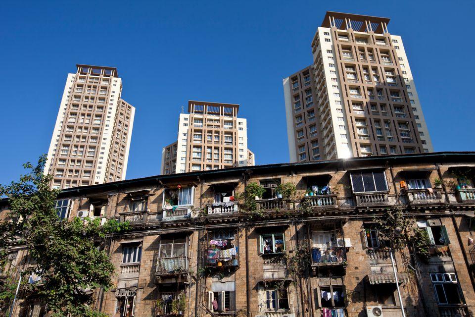 New and Old Apartment Blocks, Mumbai, Bombay, India