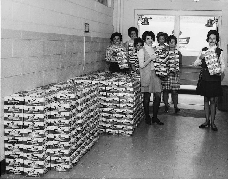 vintage Krispy Kreme fundraising photo
