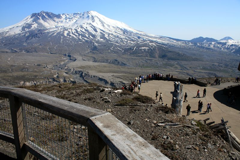 View of Mount St. Helens from the Johnston Ridge Visitor Center