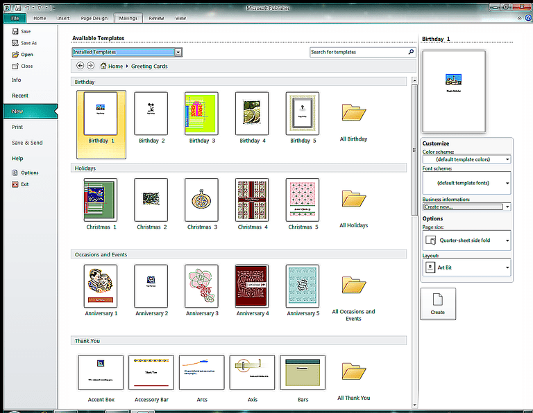 microsoft publisher greeting cards templates