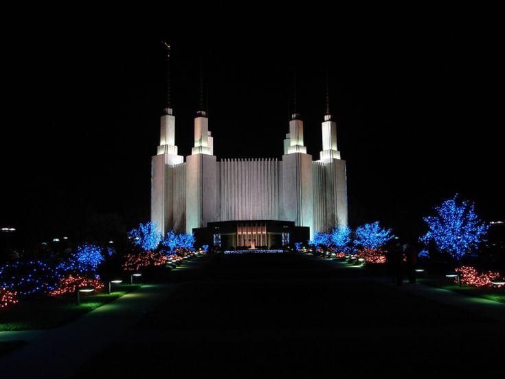 see the christmas lights at the washington dc mormon temple - Dc Christmas Lights