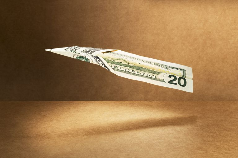 dollar paper airplane