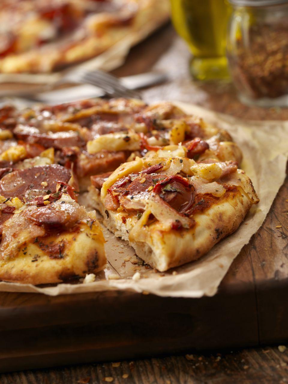 Spanish Chorizo and Serrano Ham Pizza