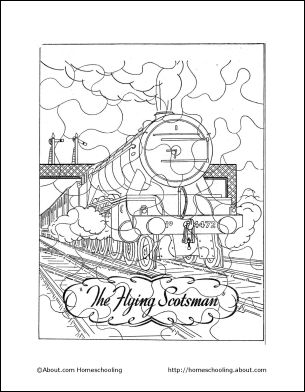 The Flying Scotsman Coloring Puzzle