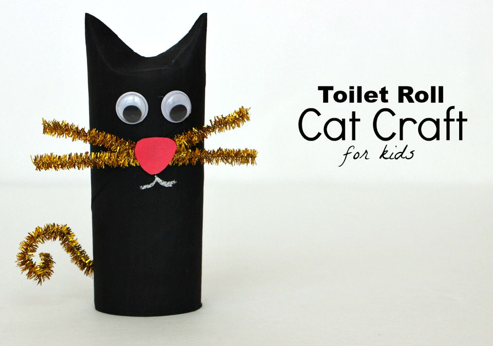 DIY: Toilet Roll Black Cat Craft