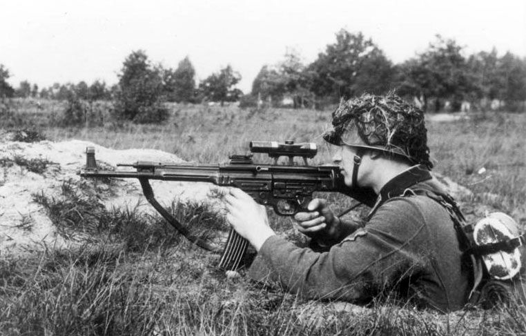 WWII soldier with assault rifle