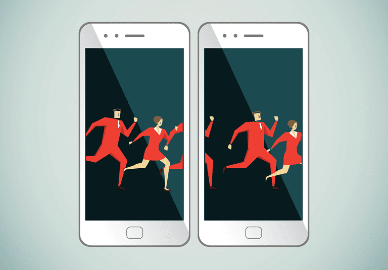 5 free gif maker apps for iphone and android illustration representing an animated gif across two smartphones negle Images
