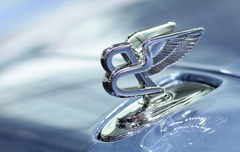 The Bentley hood ornament stands fixed on a Bentley Mulsanne luxury car (Bentley belongs to Volkswagen) at VW's annual press conference on March 11, 2010 in Wolfsburg, Germany.