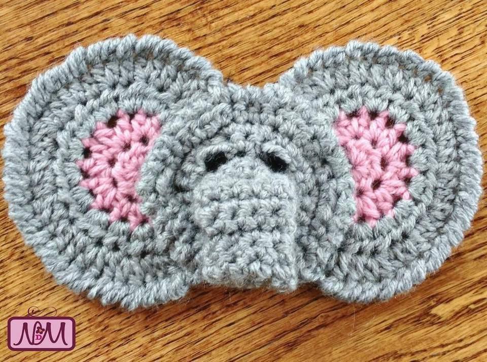 11 free crochet elephant patterns elephant applique free crochet pattern dt1010fo