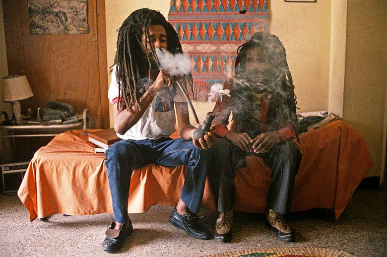 Ganja Smoking, Kingston, Jamaica