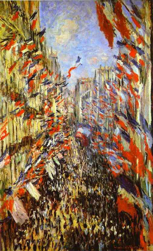 "Claude Monet, ""Rue Montorgueil"", 1878."