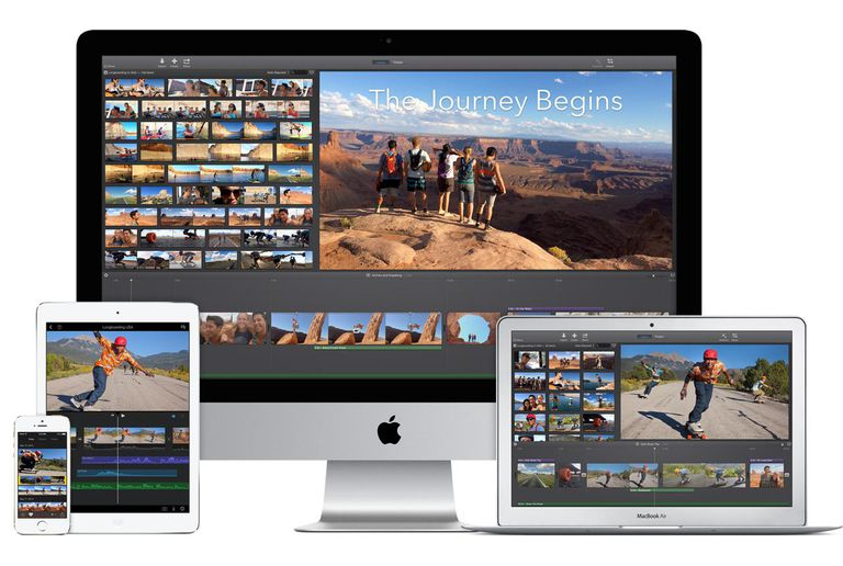 iMovie on various Apple devices