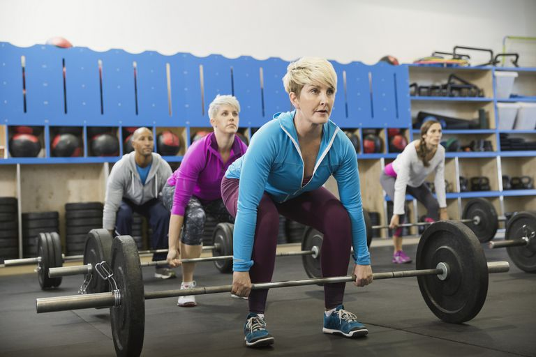 Barbell Lifting at Strength Training Class