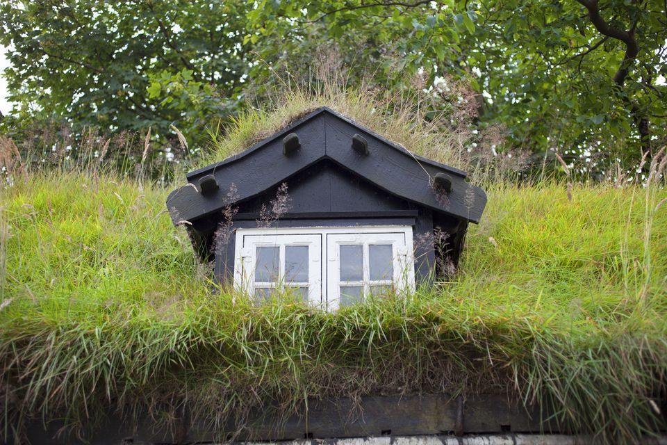 House With Grass Covered Roof