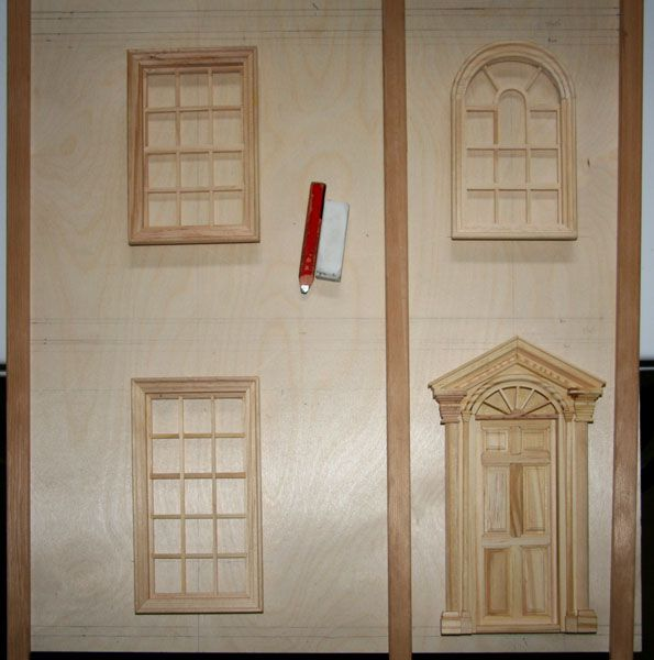 Make Front Opening Doors For A Dolls House Or Baby House