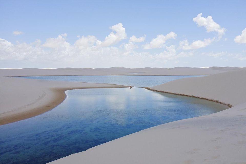 View of Lençóis Maranhenses in Sate of Maranhão.