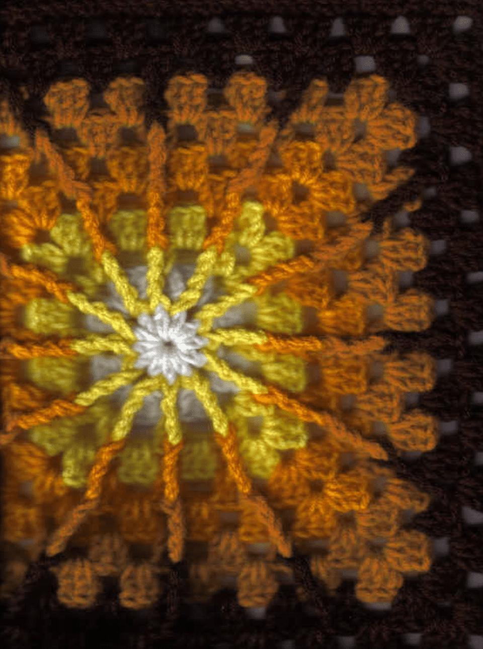 Double Treble Square Free Crochet Pattern