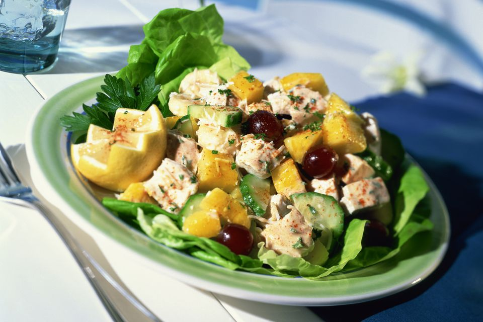 Turkey Salad With Grapes and Pineapple