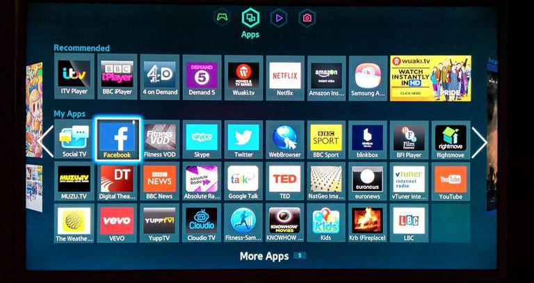 Samsung Smart Hub Example - Apps Screen