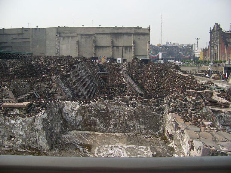 Ruins of Tenochtitlan in Mexico City
