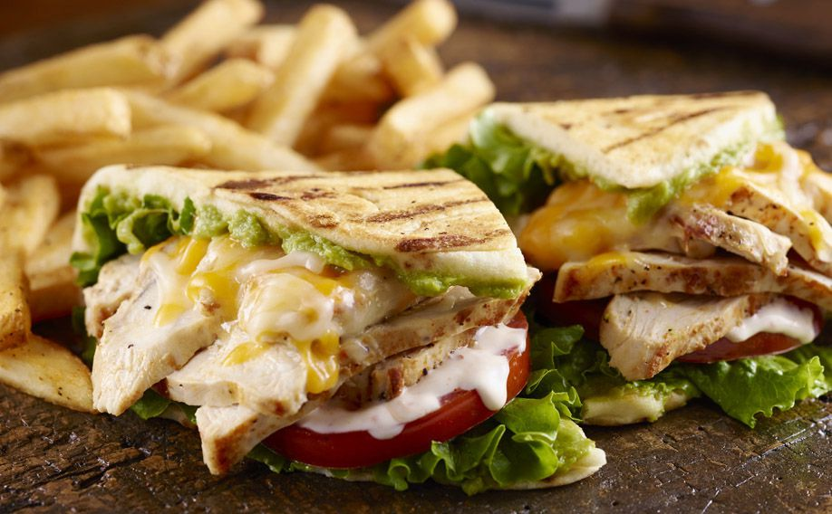 Longhorn Steakhouse Grilled Chicken and Avocado Sandwich